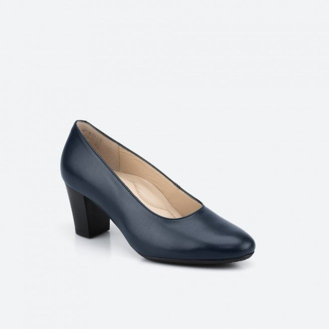 Sapato de tacão Azul noite BARCELONA