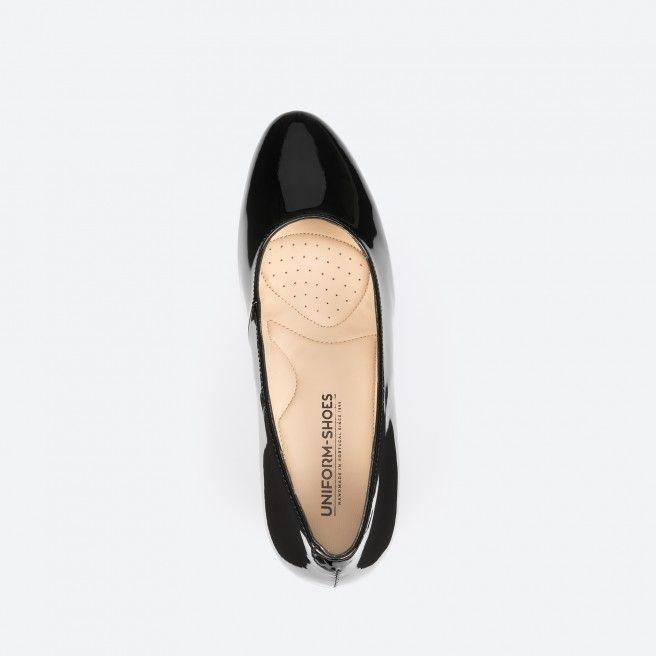 Barcelona 003 - patent black pump shoe