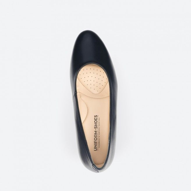Sapato de tacão azul noite - Madrid 002