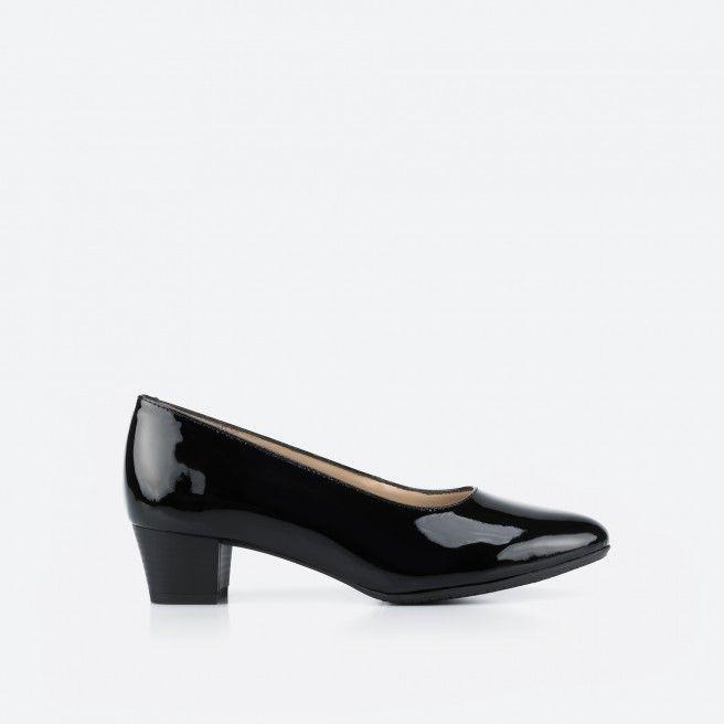 Madrid 003 - sapato de tacão preto verniz