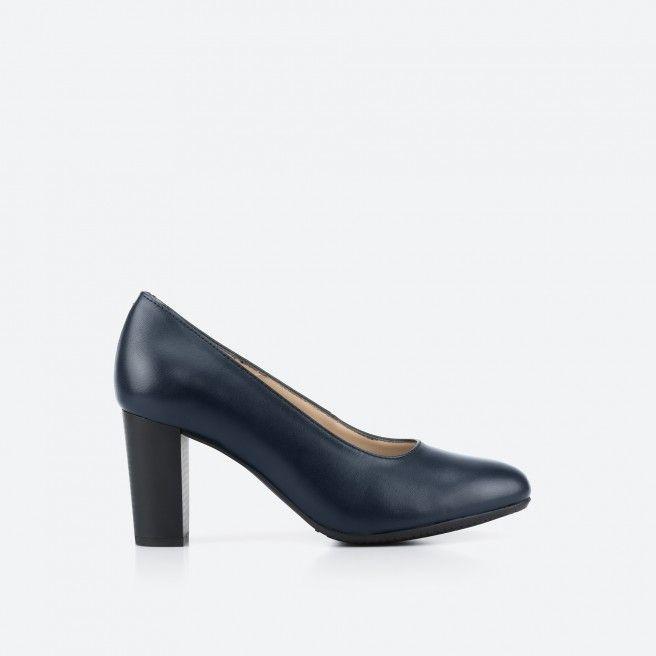Sapato de tacão azul noite - Oslo 002