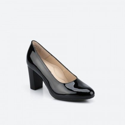 Patent black pump shoe  - Oslo 003
