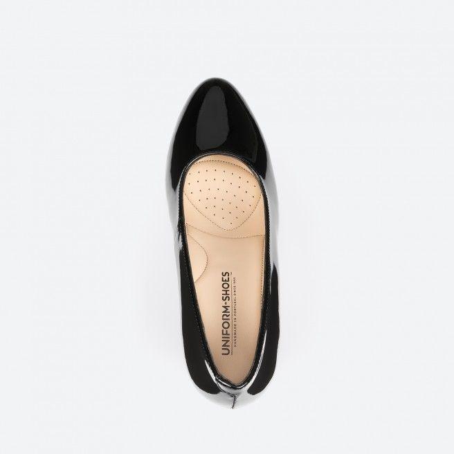 Oslo 003 - sapato de tacão preto verniz