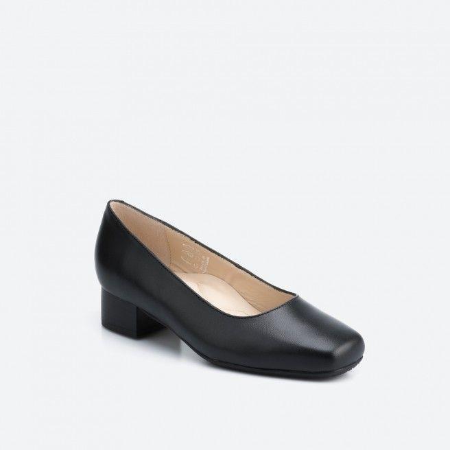 Black pump shoe - Bergamo 001