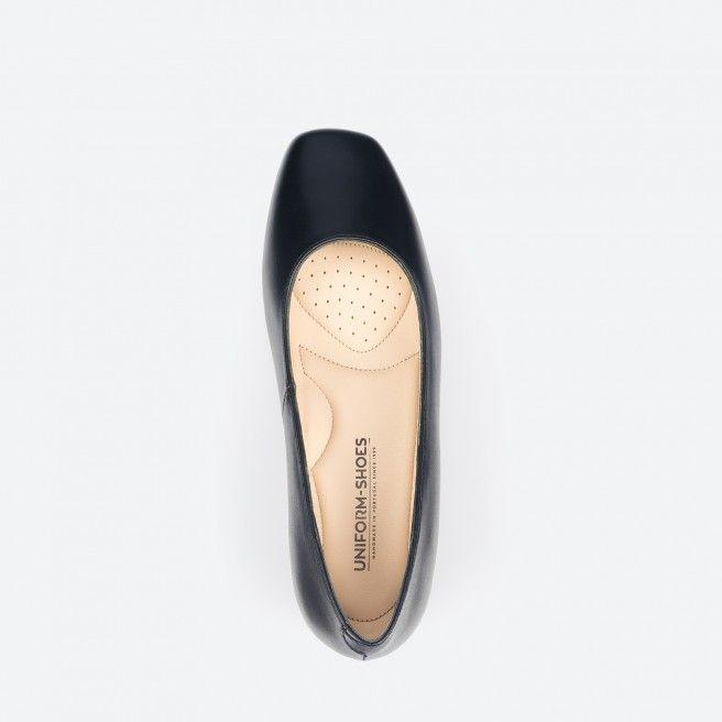 Sapato de tacão azul noite - Bergamo 002