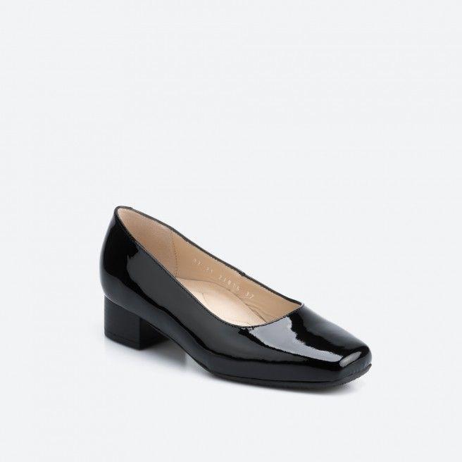 Bergamo 003 - sapato de tacão preto verniz