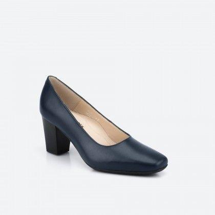 Sapato de tacão Azul noite MUNICH
