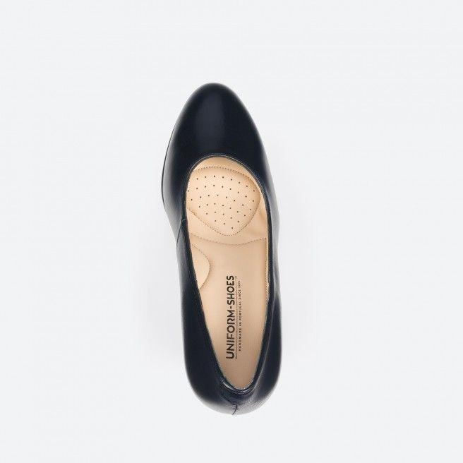 Sapato de tacão azul noite - Berlin 002