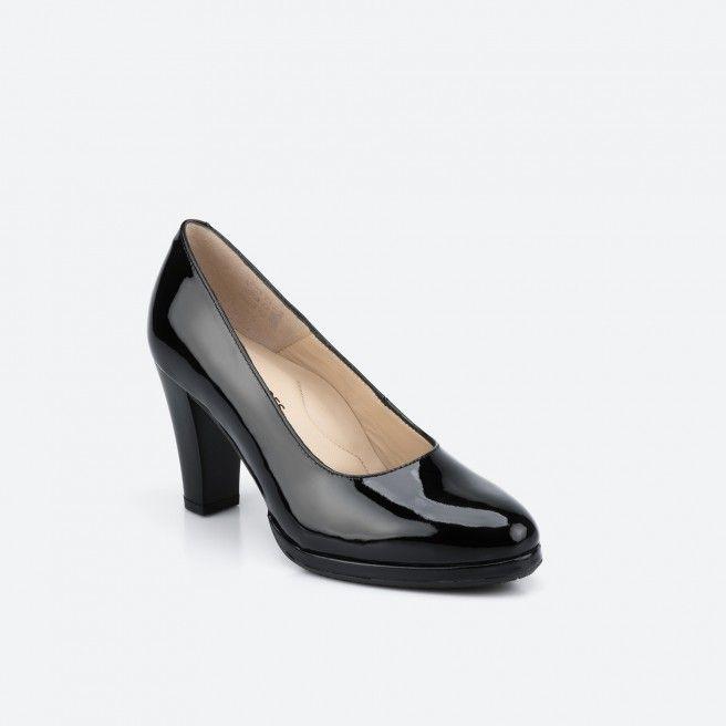 Berlin 003 - sapato de tacão preto verniz