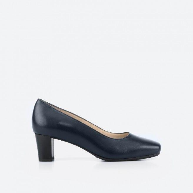 Sapato de tacão azul noite - Papeete 002