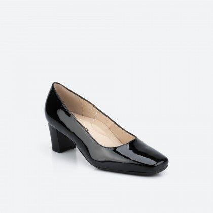Sapato de tacão preto verniz - Papeete 003
