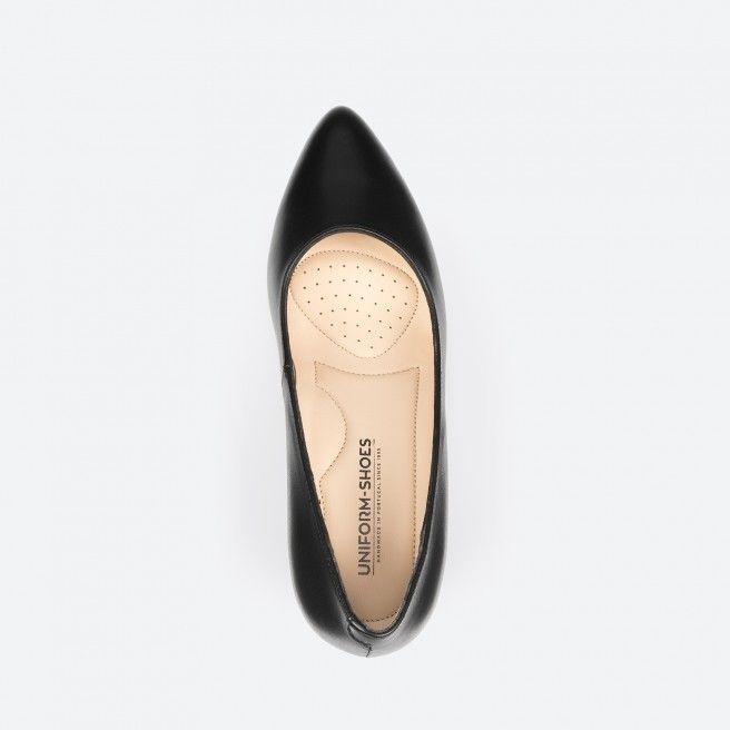 Sapato de tacão preto - Portland 001