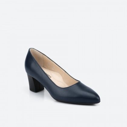 Midnight blue pump shoe  - Portland 002