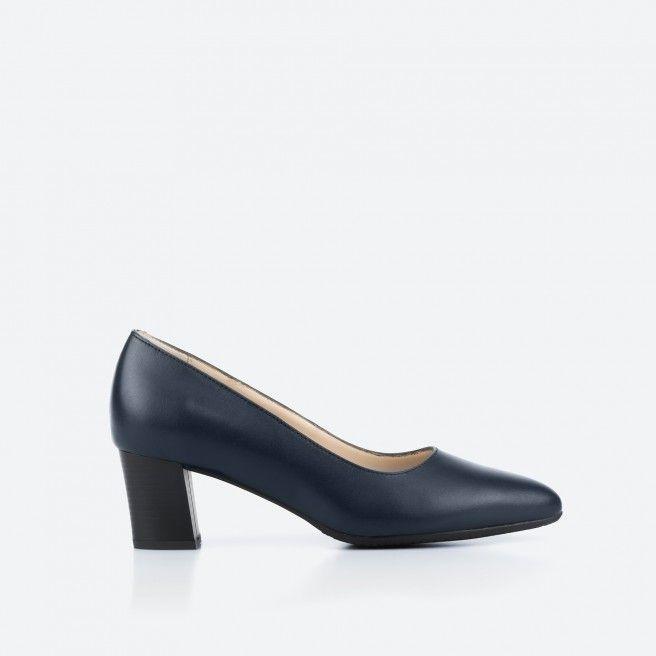 Midnight blue pump shoe  - Portland 002