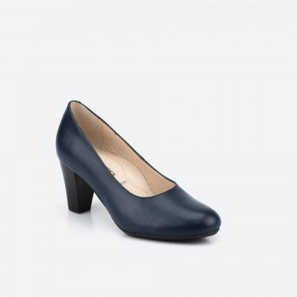 Sapato de tacão azul noite - Barajas 002