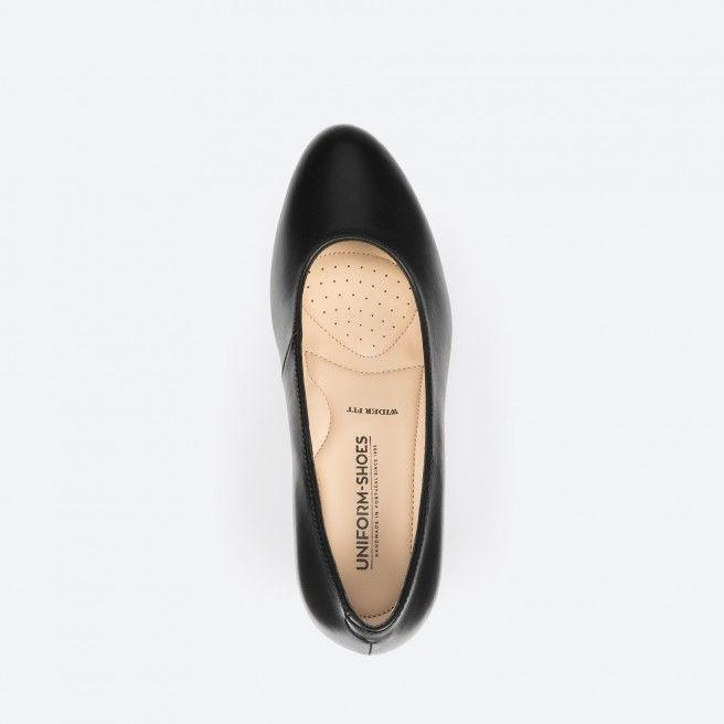 Black pump shoe - Barcelona Wide 001