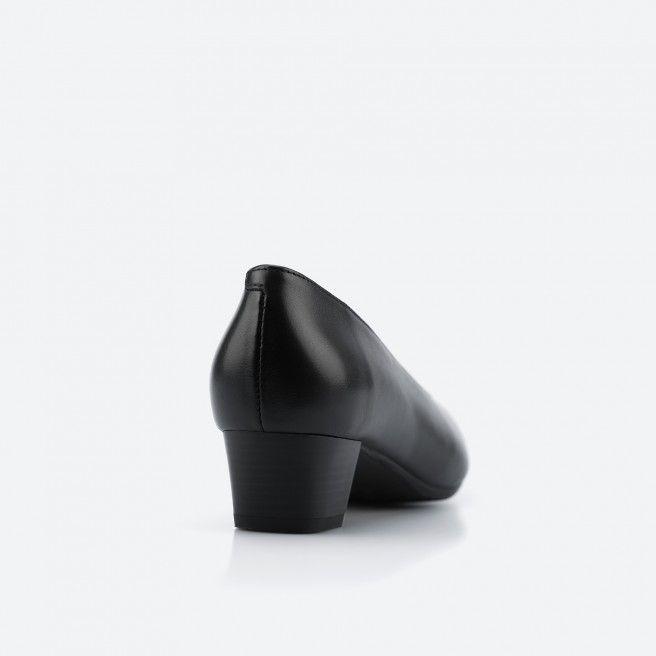 Sapato de tacão preto - Madrid Wide 001