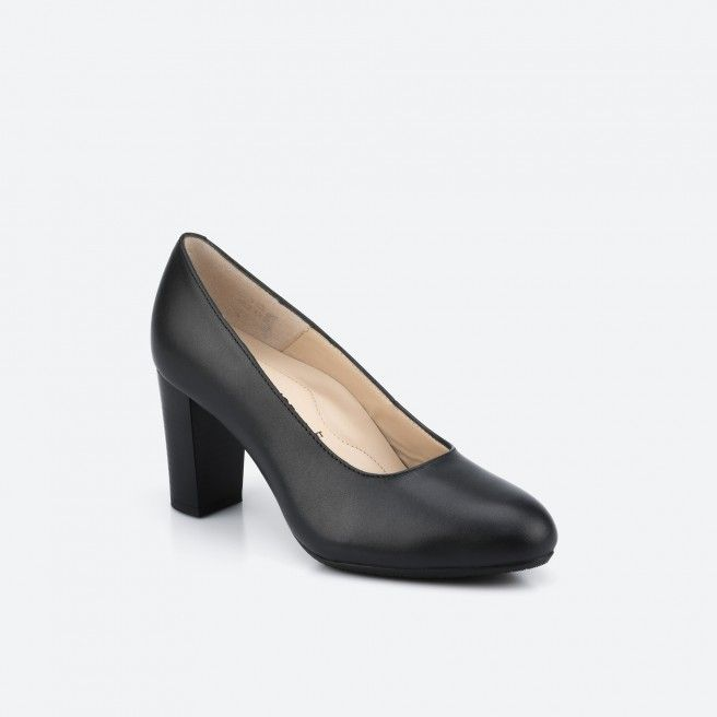 Black pump shoe - Oslo Wide 001