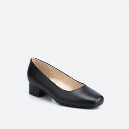 Bergamo Wide 001 - black pump shoe