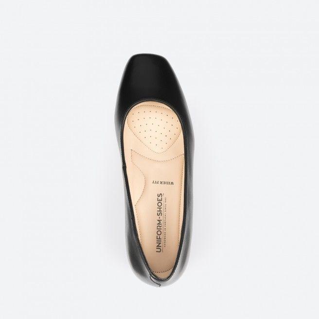 Sapato de tacão preto - Bergamo Wide 001