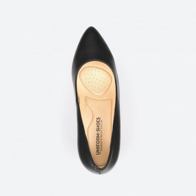 Sapato de tacão preto - Portland Vegan 001