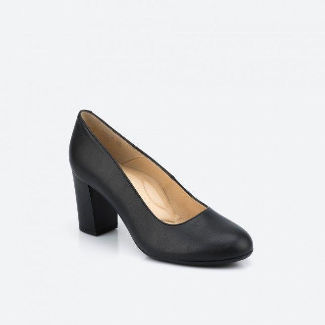 Sapato de tacão preto - Prague Vegan 001