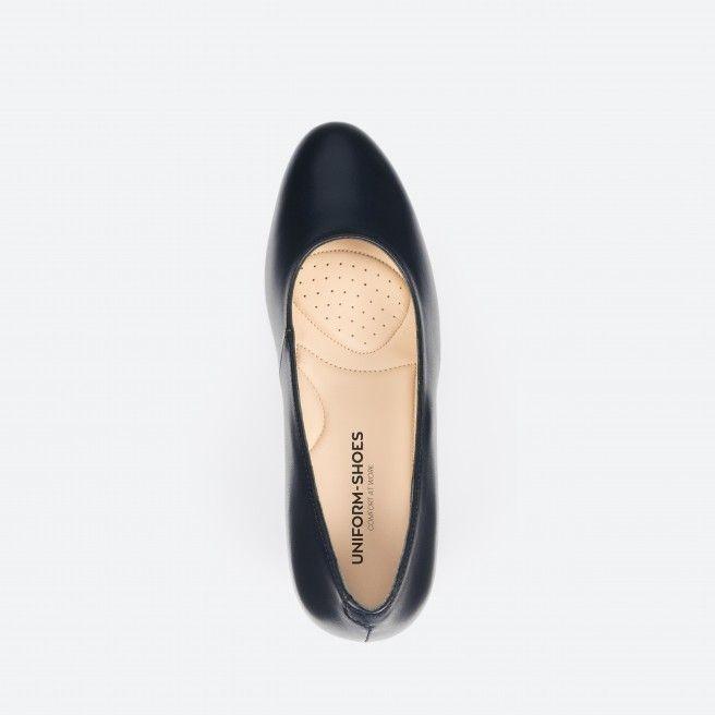 Sapato de tacão azul noite - Barcelona 002
